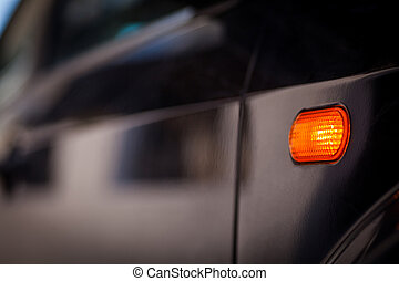 Car turn signal - Color close up image of a car's turn ...
