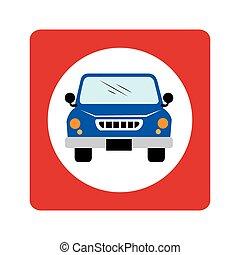 car, vagão, ícone, veículo