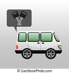 car van and keys icon graphic