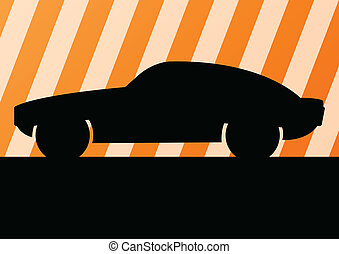 Car vector background for poster