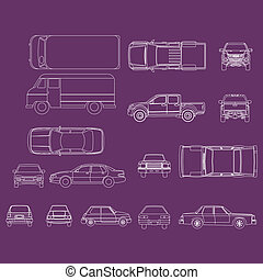 car vector - Collection car isolated on background, Vector...