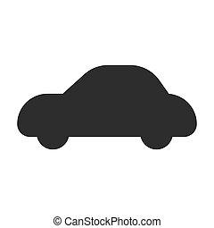 Car vector icon symbol