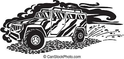 Car. Vector illustration.
