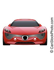 Car Vector on White Background. Business sport car isolated.