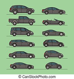 car vector set icon