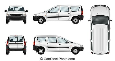 Car vector template.