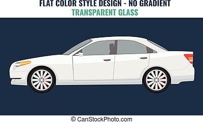 Car schematic or car blueprint vector illustration sedan car vector template on white background business sedan isolated malvernweather Image collections