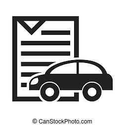 car vehicle silhouette icon