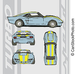 car, velocidade, turbo