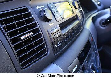 Car vent and radio