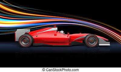car, vermelho, fórmula, raça