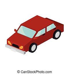 car, vermelho, veículo