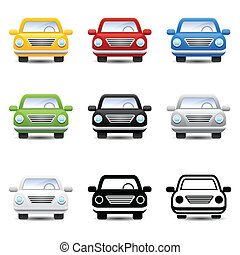 car, vetorial, ícones