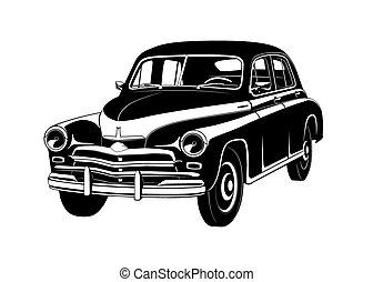 car, vetorial, 20, gaz