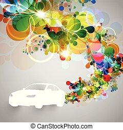 car, vetorial, coloridos, ilustração