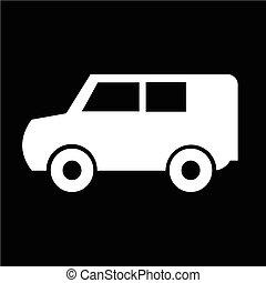 car, vetorial, ilustração, ícone