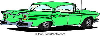 car, vetorial, retro
