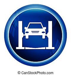 car, vetorial, serviço, ilustração, ícone
