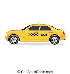 car, vetorial, táxi, ilustração