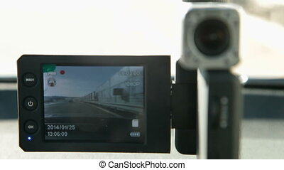 Car video surveillance DVR - Car video recorder installed in...