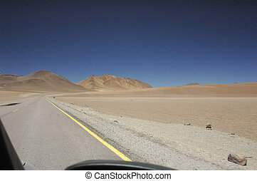 Car view of the Atacama desert