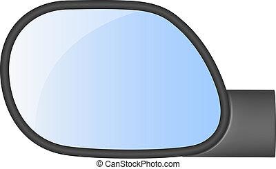 car, vista, espelho traseiro