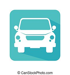 car waggon vehicle icon vector illustration design