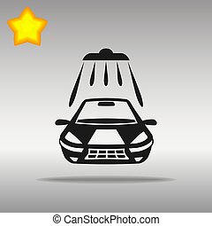 Car wash black Icon button logo symbol