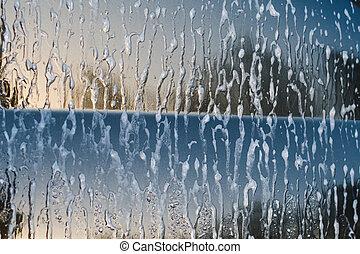 car wash close-up