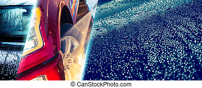 Car Wash Concept Background