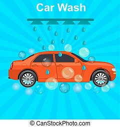 car wash concept, vector