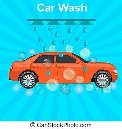 car wash concept, vector
