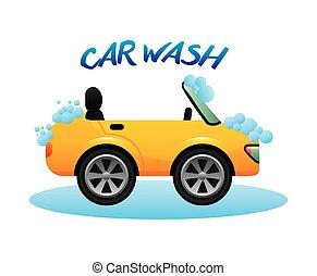 car wash design - car wash graphic design , vector...
