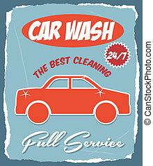 car wash over blue background vector illustration
