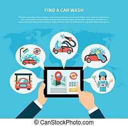 Car Wash Finder Concept