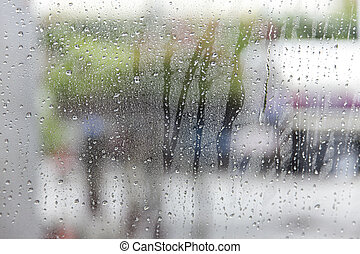 Car wash from inside the windscreen