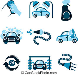 Car Wash Icons