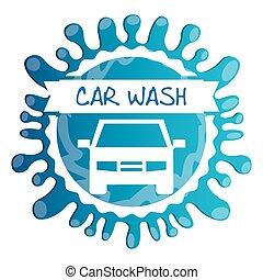 car wash design, vector illustration eps10 graphic