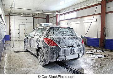 Car wash - Interior of a car wash