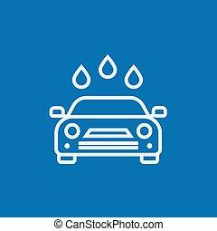 Car wash line icon.
