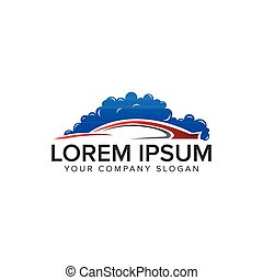 Car wash logo design concept template.