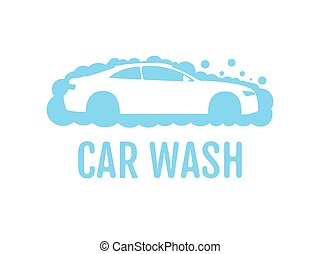 Car wash logo design layout. Corporate vector symbol concept. Unique auto cosmetic icon template.