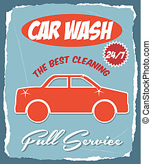 car wash over blue background vector illustration