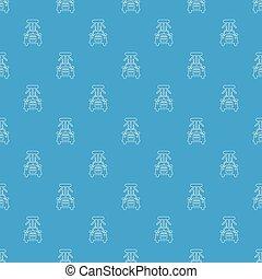 Car wash pattern vector seamless blue
