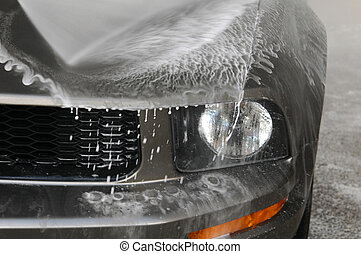 Car Wash - A car in the car wash