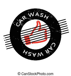 Car Wash rubber stamp. Grunge design with dust scratches....