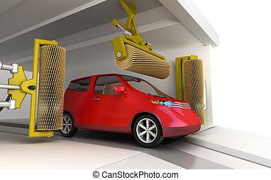 Car wash service and clean car
