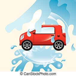 car wash service design, vector illustration eps10 graphic