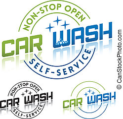 Car Wash Service Label Template