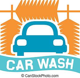 car wash sign, car wash icon, car wash symbol